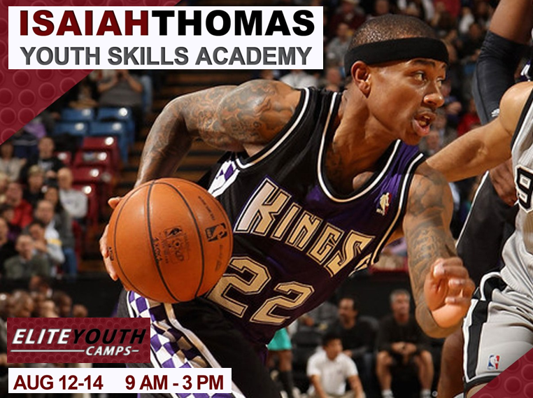 Basketball Camp Isaiah Thomas Sacramento Kings Spokane HUB Sports Center